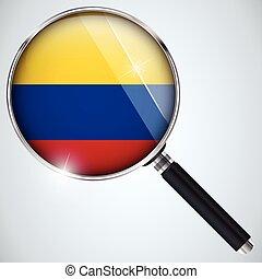 스파이, usa 정부, nsa, 프로그램, 콜롬비아, 나라