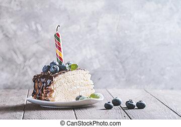 스펀지 케이크, 조각, 상쾌한