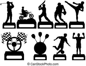 스포츠를 좋아하는, trophys