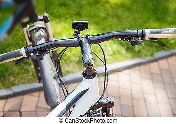 스포츠, 자전거, 통하고 있는, 자연