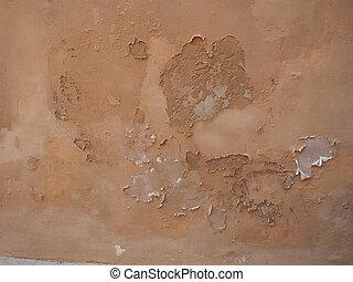 습기, 습기, 통하고 있는, 벽