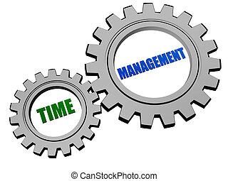 시간 관리, 에서, 은, 회색, 은 설치한다