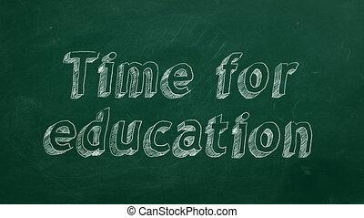 시간, 치고는, 교육
