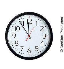 시계, 사무실, 얼굴