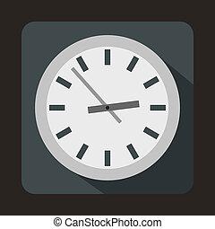 시계, 아이콘, 바람 빠진 타이어, 스타일