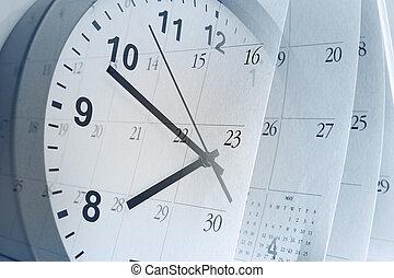 시계, 와..., 달력