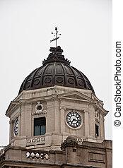 시계, 통하고 있는, 늙은, 정부, 돔