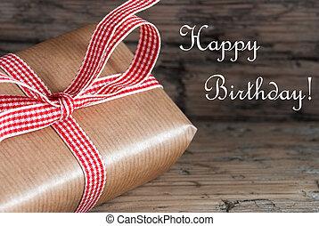 시골풍, 생일 선물, 행복하다