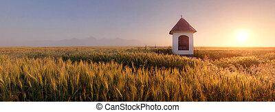 시골, 파노라마, 채플, -, 슬로바키아 공화국