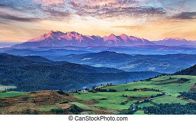 시골, 폴란드, 슬로바키아 공화국, tatras