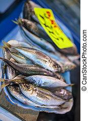 시장, fish, 도쿄, 판매, 아시아, 일본