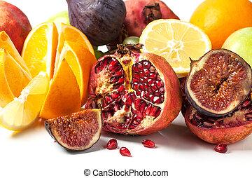신선한, 그룹, 과일