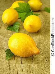 신선한 레몬