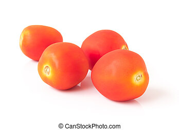 신선한, 백색, 토마토, 배경