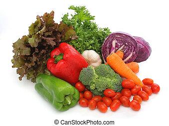 신선한 야채, 그룹, 다채로운