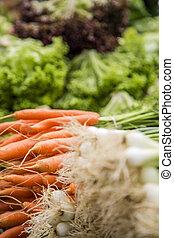 신선한 야채, 시장