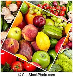 신선한, 열대적인, fruits.