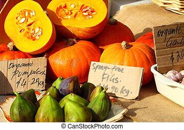 신선한, salamanca, 시장, 과일