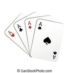 실감나는, 카드 놀이를 하는 것, 에이스, 의, 모든 것, 스트라이프
