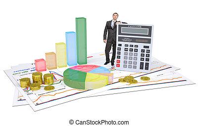 실업가, 계산기, 그래프