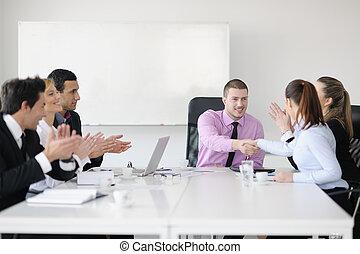 실업가, 그룹, 통하고 있는, 특수한 모임