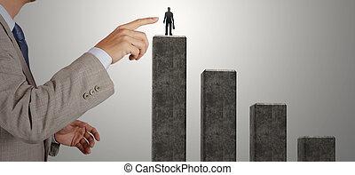 실업가, 손, 선택하는, 그만큼, 오른쪽, 사람, 치고는, 조합 계약, 가령...와 같은, 개념