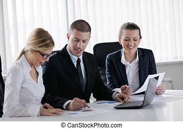실업가, 에서, a, 특수한 모임, 에, 사무실