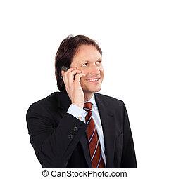 실업가, 와, a, 휴대 전화
