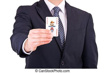 실업가, 전시, 노는 것, card.