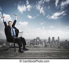 실업가, 휴대용 퍼스널 컴퓨터, computer.