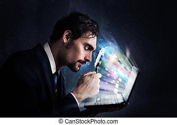 심사하다, a, 컴퓨터