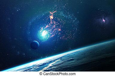 심상, 행성, 성분, nasa., 이것, 떼어내다, stars., nasa, 배경, -, 공급된다, 공간, 과학, gov, 성운