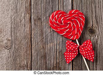 심장, 연인 날, 사탕