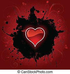 심장, grunge, 배경