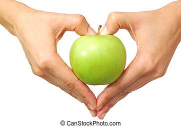 심혼은 형성했다, 손, 사과를kacikoiss는