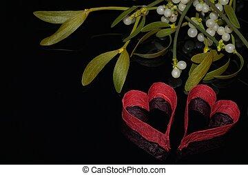 심혼, 겨우살이, 빨강