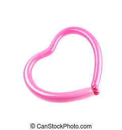 심혼 모양, 만든, 의, balloon