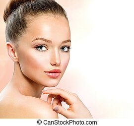 십대의 소녀, 아름다움, 초상
