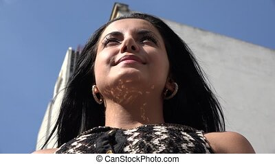 십대 후반의 청소년, 스페인 사람 여자