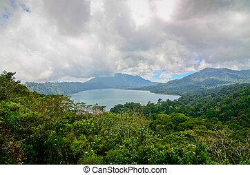 쌍둥이, 호수, 에서, 북부 사투리, bali, 인도네시아