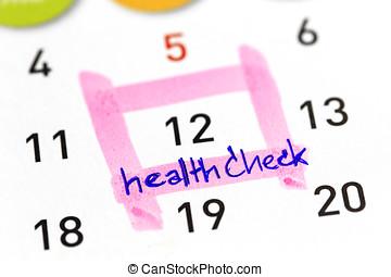 써진다, 건강 계획, 달력, 수표