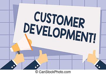 쓰기, 저명, 전시, 고객, development., 사업, 사진, showcasing, 형식적이다,...