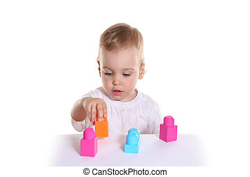 아기에, 장난감 블록