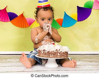 아기, 생일, 처음