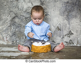 아기, 숭비할 만한, 케이크, 굉장한