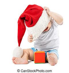 아기, 이동한다, 그의 것, 크리스마스 모자