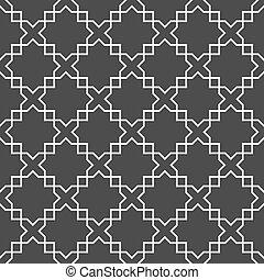 아라비아말, 검정과 백색, seamless, 패턴