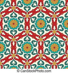 아라비아말, seamless, 패턴