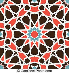 아라비아풍의, seamless, 패턴