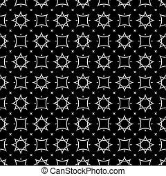 아랍 작풍, 검정과 백색, seamless, 패턴